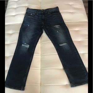Old Navy Men's Straight Ripped Blue Jeans Sz 32/30